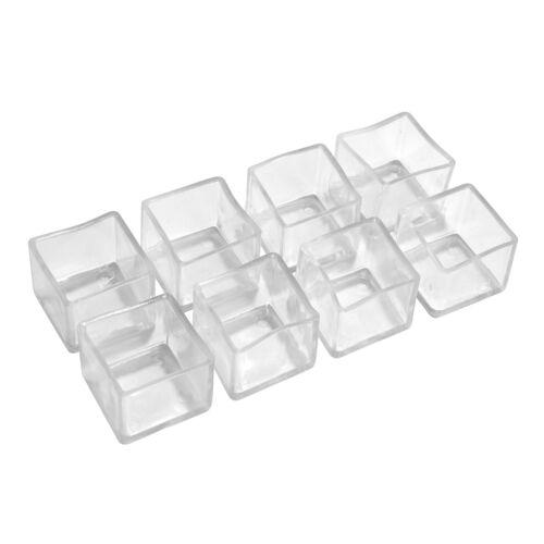 """8//16//32pcs 1/'/'x1/"""" PVC Plastic Square Furniture Chair Leg Caps Floor Protectors"""