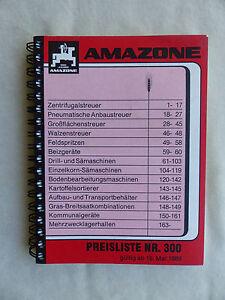 Amazone Liste De Prix Nº 300-prospectus Brochure 05.1989 (0744-afficher Le Titre D'origine Facile à RéParer