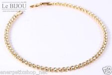 LE BIJOU echt-vergoldetes Tennis-Collier Halskette mit Swarovski-Kristallen