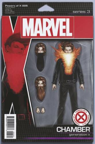 POWERS OF X #5 CHRISTOPHER ACTION FIGURE VARIANT MARVEL COMICS X-MEN CHAMBER