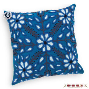 Image Is Loading Peruvian Pillow Cover 16x16 034 Blue Decorative Cushion