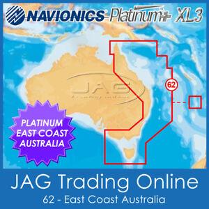 NAVIONICS PLATINUM+ 62P XL3 - EAST & NORTH AUSTRALIA - 2D/3D GPS MAP SONAR CHART