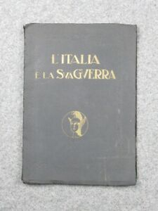 L-039-Italy-and-the-His-War-Antique-Embossing-Year-1929-with-7-Shapes-Internal