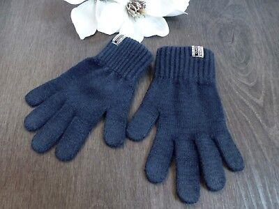 H&m L.o.g.g. ♛ Handschuhe Gants Gloves Fingerhandschuhe Blau 110 116 122 5 6 Taille Und Sehnen StäRken