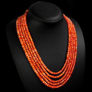 Fine Necklaces & Pendants Jewelry & Watches 159.50 Cts Natural Single Strand Untreated Rich Orange Carnelian Beads Necklace