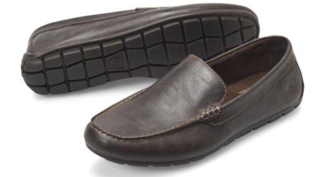 Born Mens Brompton Dark Brown Loafers