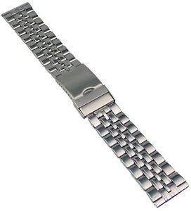 Edelstahl-Uhrenarmband-Metallband-mit-Faltschliesse-20-24mm-Uhr-Band-Armband-2
