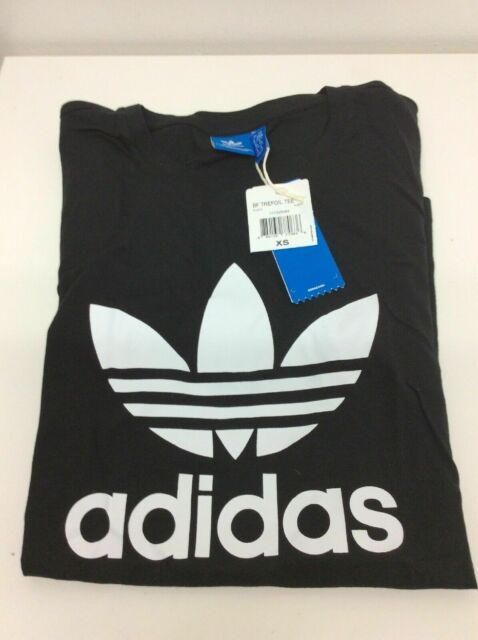 adidas Originals BOYFRIEND Trefoil Women's T shirt Blackwhite Aj8351 XS