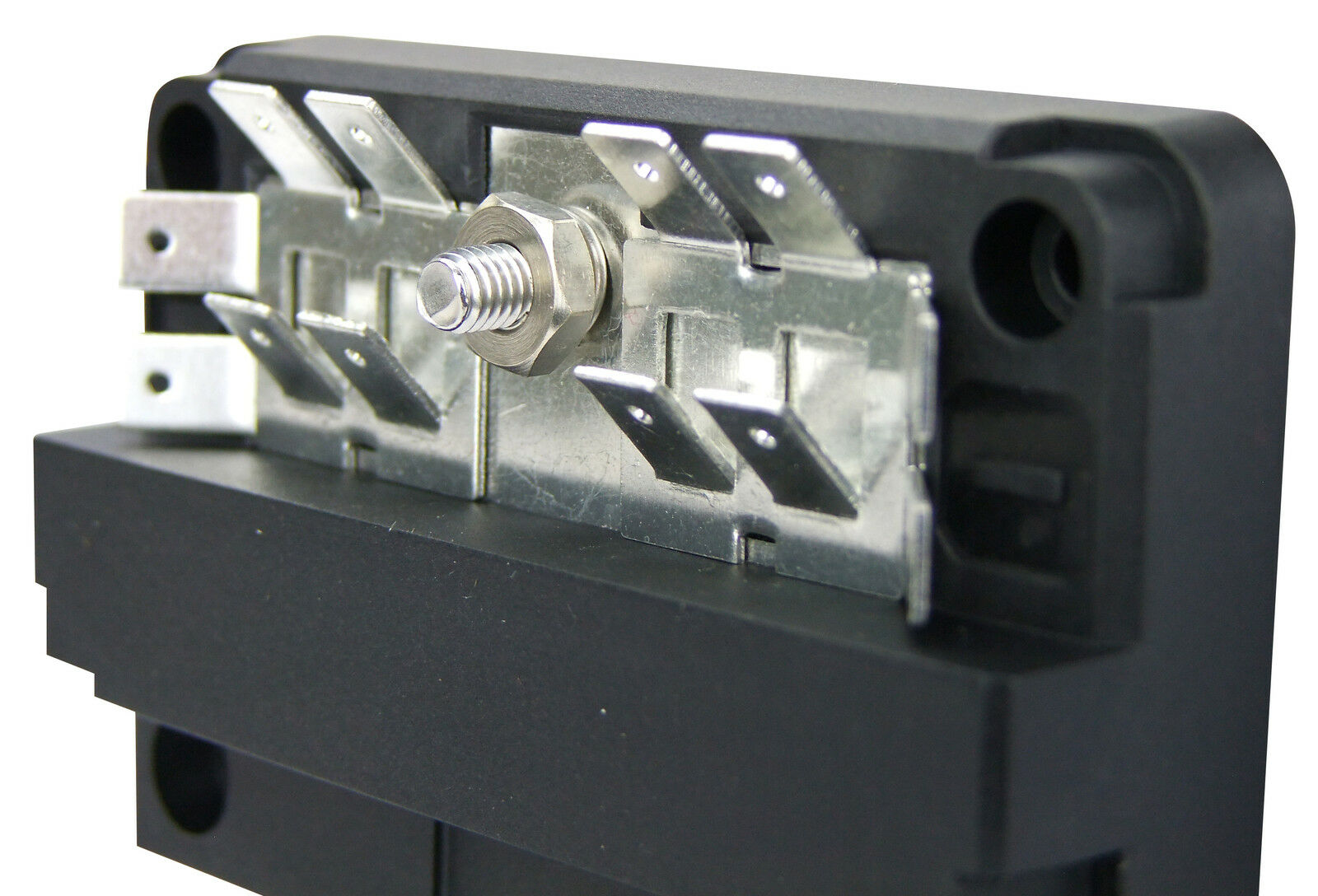 buss bar 12 way with 6 circuit fuse box modular kit 12v ... 6 fuse junction box 12 volt ford f650 dump fuse junction box