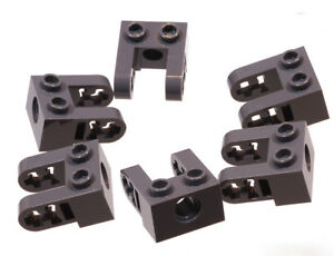 LEGO-Technik-6-x-Lochstein-1x2-dunkelgrau-Liftarm-Erweiterung-85943-NEUWARE