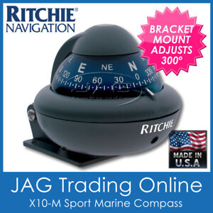 RITCHIE SPORT X10-M BRACKET MOUNT COMPASS - Boat/Marine/4x4/Powerboats to 6M