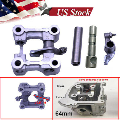 CAMSHAFT HOLDER SEAT ROCKER ARMS 64MM VALVES GY6 49CC 50CC 139QMB SCOOTER ATV
