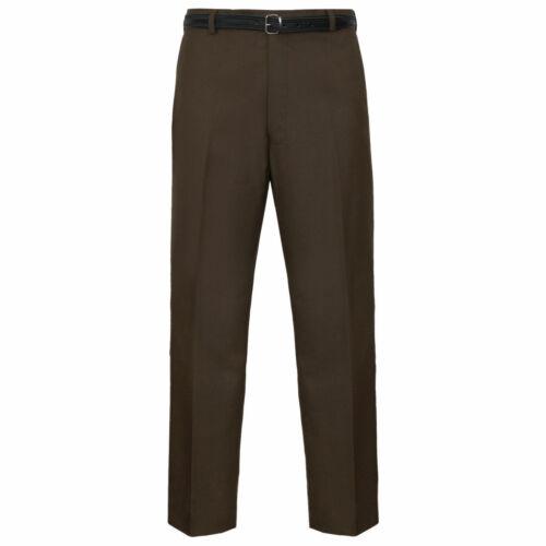 Homme Formel Pantalon Bureau Travail Décontracté Smart Ceinture Poche Business Big Plus size