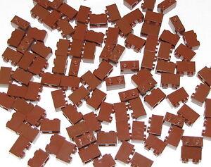 LEGO LOT OF 50 REDDISH BROWN 1 X 2 X 5 PILLARS BUILDING BLOCKS PIECES