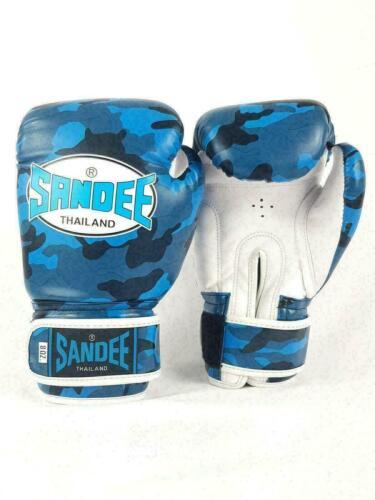 Sandee Kids Muay Thai Boxing Gloves Authentic Camo Blue /& White