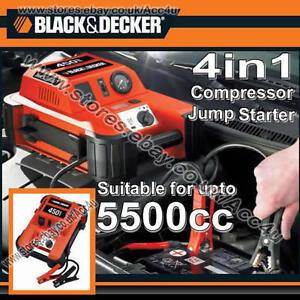 black decker portable 12v 450a 5500cc car battery jump. Black Bedroom Furniture Sets. Home Design Ideas