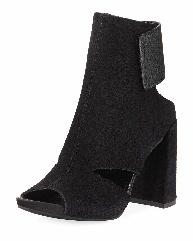 Pedro Garcia YECA Cutout Chunky-Heel Sandal Black Suede 38 39 BNIB  550