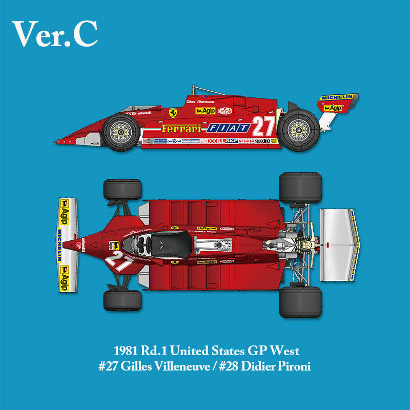 Model Factory Hiro MFH 1 12 Ferrari 126 CK 1981 Rd.1 United States GP West K639