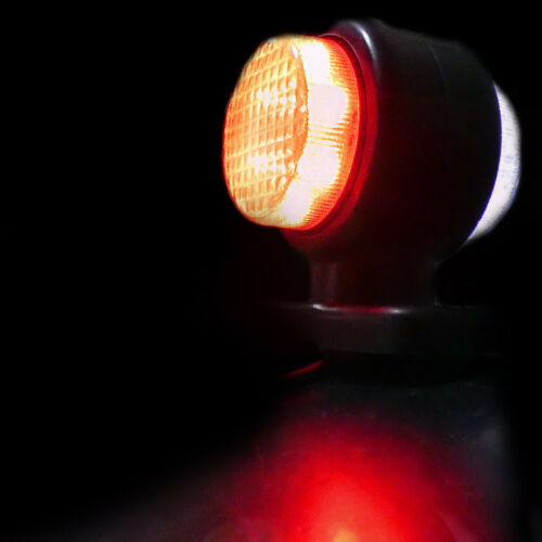 2x LED Weiß Rot Begrenzungsleuchten Lkw-Chassis Lkw Anhänger 12v Scania Mercedes