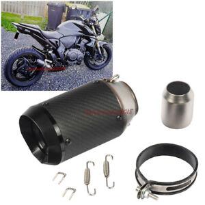 51mm Motorcycle Muffler Exhaust Short Pipe Universal Motor Carbon Fiber Pipe Ebay
