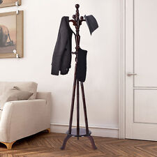 """73"""" Free Standing Solid Wood Coat Hat Purse Hanger Tree Stand Rack Furniture NEW"""