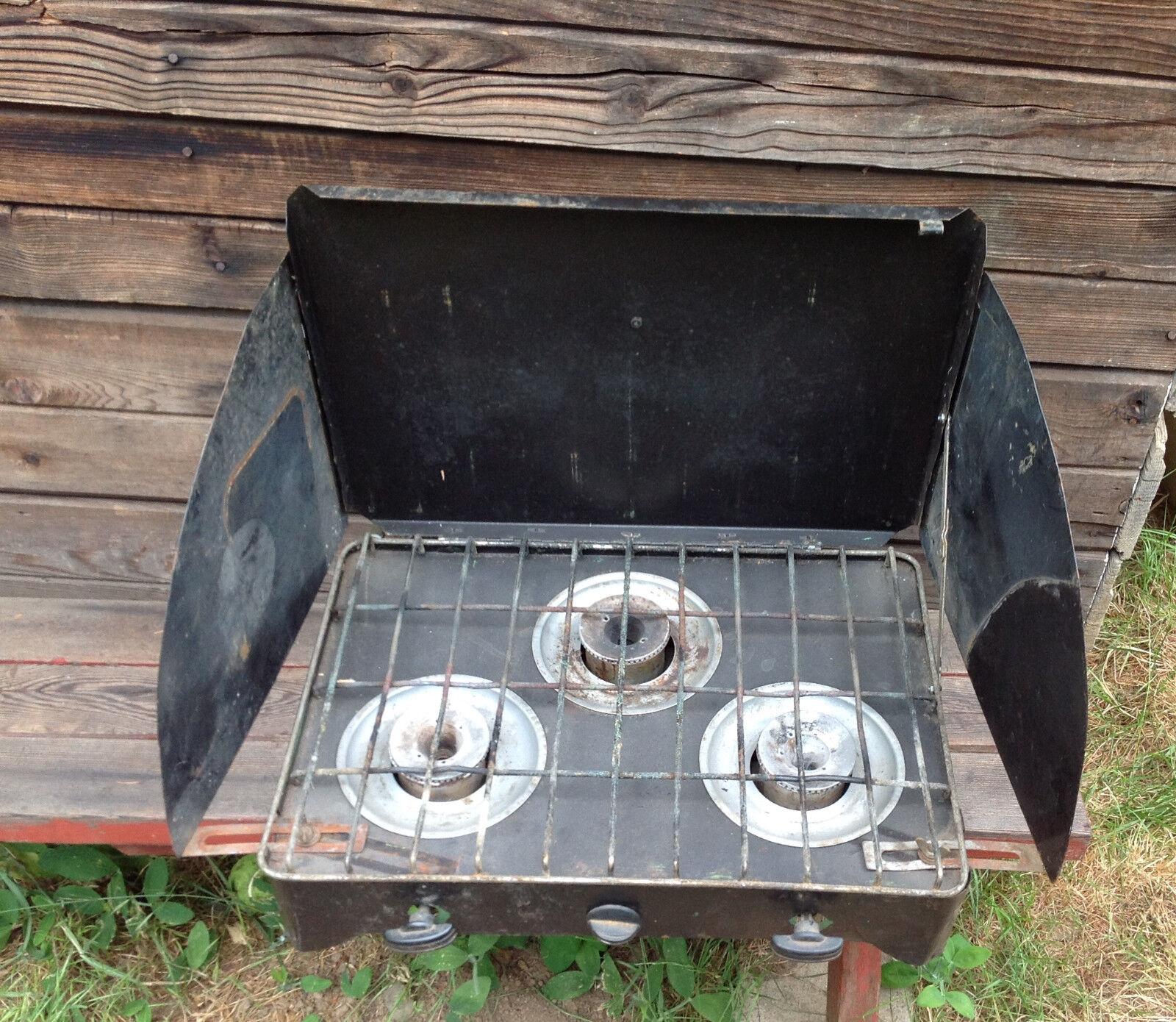 Estufa de gas propano de 3 Quemadores portátil Vintage