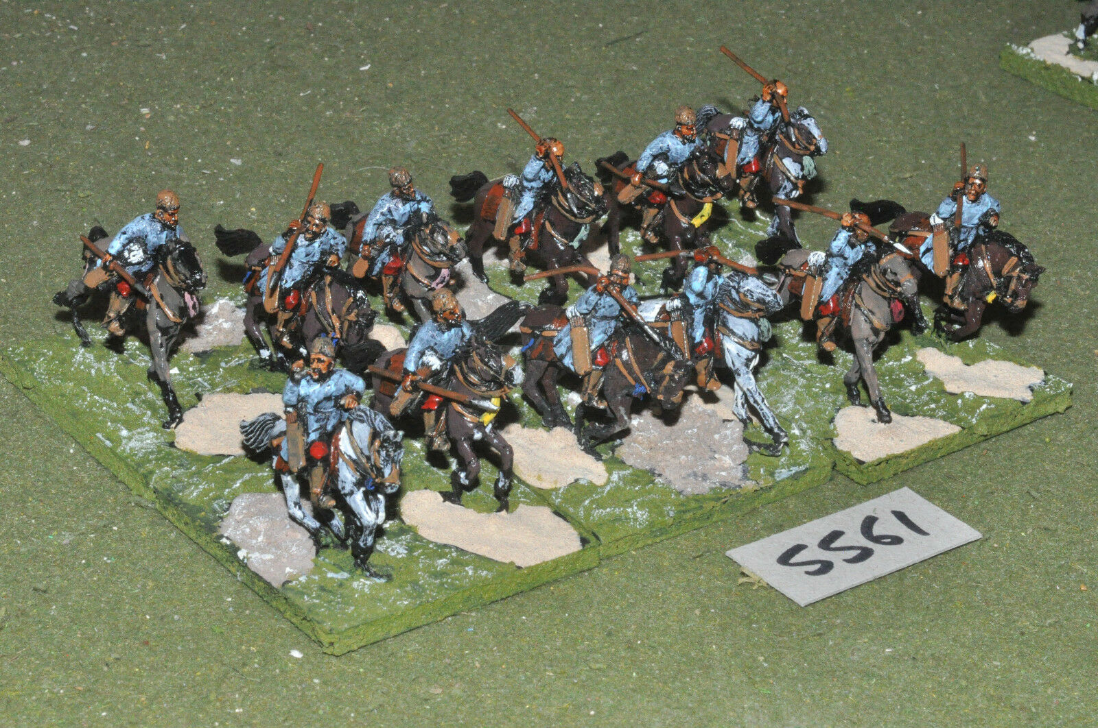 25mm medieval   turkish - crusades turkoman 12 metal painted - cav (5561)