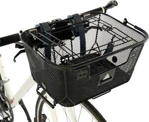 Wald Small Multi-Fit 3133 Front Handlebar Bicycle Basket w//Rack Combo