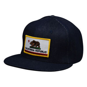 f2b0b1162fc0e California Republic SnapBack by LET S BE IRIE - Blue Denim Hat