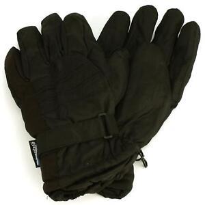 Men-039-s-Winter-Thinsulate-3M-Waterproof-Hook-amp-Loop-Ski-Wrist-Cover-Gloves-Blk-M-L