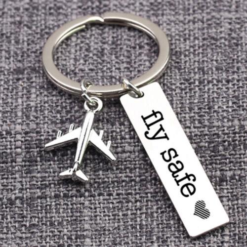 Fly Safe Pilot Keychain Airplane keychain Attendant Creative Gift G