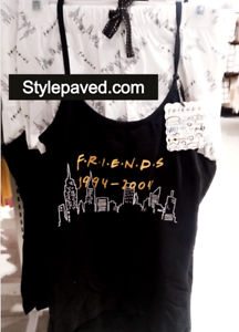 Friends TV Pyjamas Set Cami Débardeur short Primark Central Perk Femme Cadeau