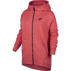 Nike VINTAGE Hoodie SWEATSHIRT Full ZIP Womens Medium Heather Small Anorak | eBay