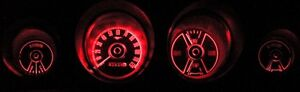 Mustang LED Dash Light Kit Red 1969 1970 69 70 Coupe Fastback Convertible Mach 1
