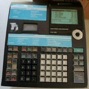 Casio PCR-T2300 Black Electronic Cash Register  power supply used working
