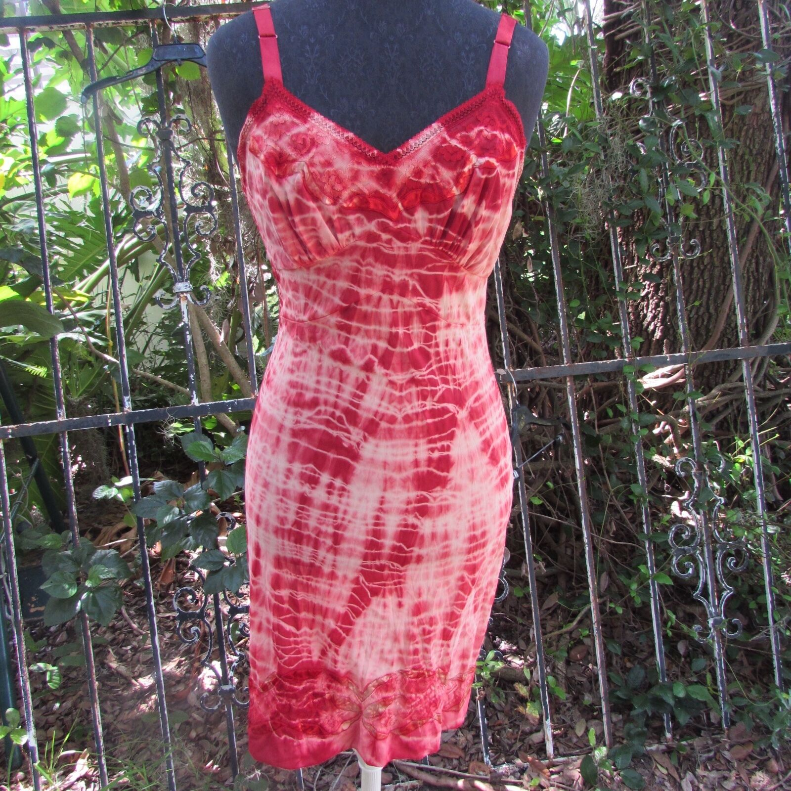 Sexy One of a Kind Dyed Slip Cherry BOMB Pin Up Girl Vintage Hippie Dress Small