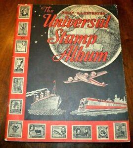 CatalinaStamps-The-Universal-Stamp-Album-Grossman-1957-200-Stamps-Lot-E