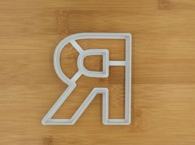 Large Letter R Alphabet Cookie Cutter Fondant Cake Cupcake Biscuit Pastry Mould