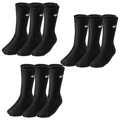 9 Paar NIKE Sportsocken schwarz Größe 38-42 und 42-46 NEU Vorteilspack Socken