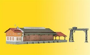36606-Kibri-Z-Gauge-Kit-of-a-Freight-shed-with-gantry-crane-and-ramp
