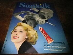 SUNSILK-SHAMPOOING-Publicite-de-presse-Press-advert-1958