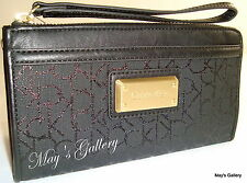 Calvin Klein Wristlet Hand Bag Envelope Handbag Purse Wallet  Clutch  Coin CK