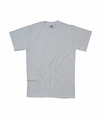 New Fruit of the Loom Heavy Cotton Plain Blank Short Sleeve Cotton T-shirt