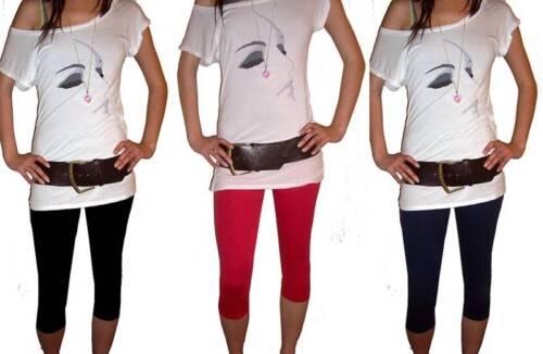 Knee Length Womens Ladies Stretch Navy Black Leggings Size 20 22 24 26 XL Plus