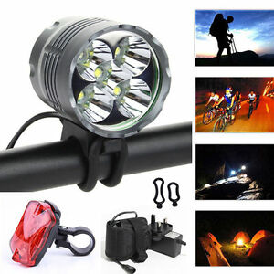 6000lm 4x Cree Xml T6 Front Head Led Bicycle Lamp Bike Light