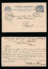 JAVA TJIBADAK 1906 STATIONERY CARD NETHERLANDS INDIES to FRANCE