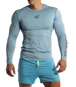 ff49d1d40cd9 Men's Long Sleeve Compression Tee Muscle Bodybuilding Workout Slim ...