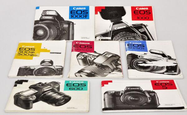 Alerte Canon Fotocamere Lotto Di 7 Manuali D'uso Tutti In Italiano E655