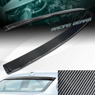 Fits 05-11 BMW 3Series E90 Sedan AC Style Carbon Fiber CF Rear Roof Spoiler Wing