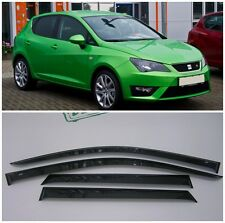 For Seat Ibiza Hb 5d 2009-2017 Side Window Visors Sun Rain Guard Vent Deflectors